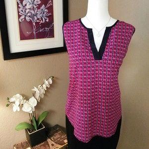 41 Hawthorn Beckett V-Neck Blouse Pink Printed Top